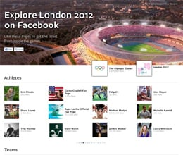 london olympic live on facebook
