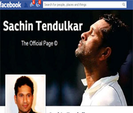 sachin launches his official facebook page