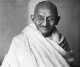 gandhi lead the path of non violence for freedom