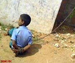 boy tortured by chained to learn arabic