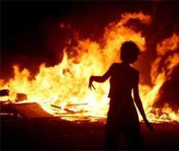 including girl mother burnt alive for dowry