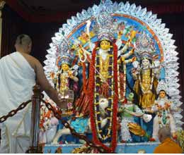 enjoy durga pooja of belur math on home Internet at home