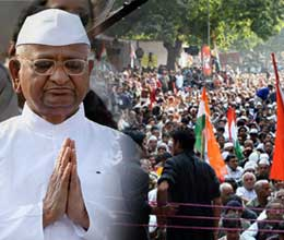 Hazare supports farmers' protests in Maharashtra