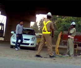 stolen vehicle will be caught at haryana border
