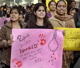 gangrape protester once again on road