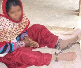 girl ties with chain to do love marriage