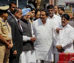 pm visits blasts sites in hyderabad