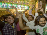 celebration of nawaz sharif's win