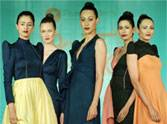 colorful models at pearl academy fashion show