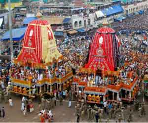 The wheel of the chariot Lord jagannath at fifty thousand.
