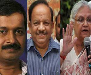 cm kejriwal and bjp in oppose to sheila dixit