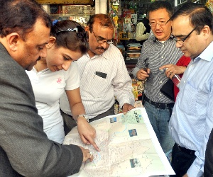 world bank team inspected metro route