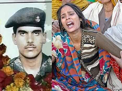 Image result for शहीद हेमराज की पत्नी
