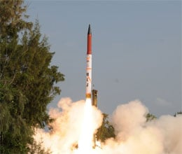 Agni—IV missile successfully test fired