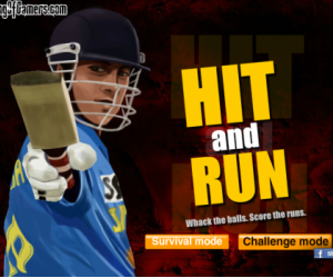 HIt and run cricket game