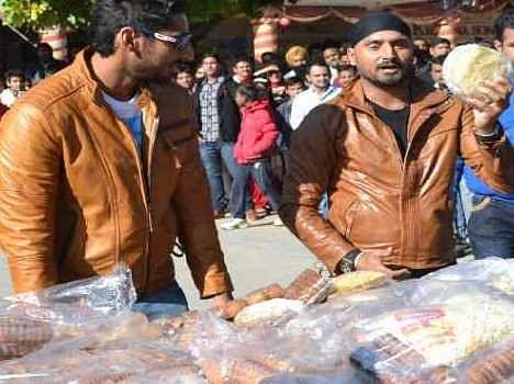 Harbhajan Singh as a Hawker