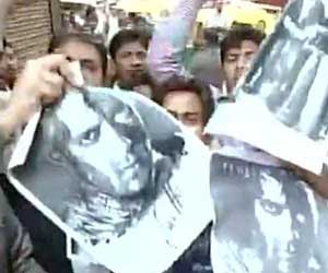 protest against the film Jai Ho in ahmedabad