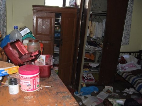 loot in former municipal councilor house