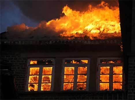 a major fire at gorton castle in shimla