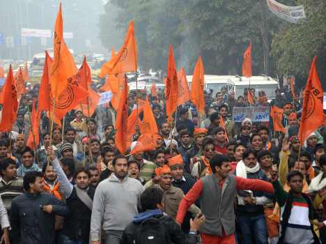 abvp protesters beaten by up police in lucknow