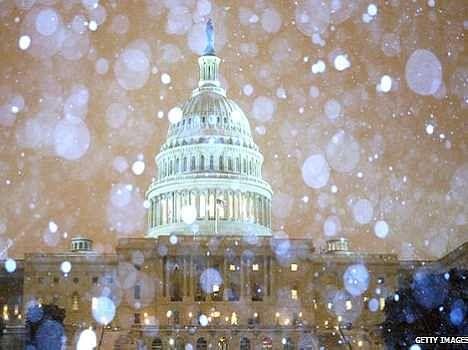 Snow strom in america