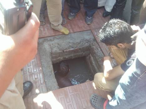 child died in open water tank