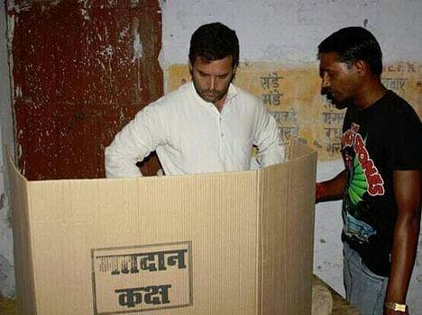 rahul gandhi break ec rules in amethi
