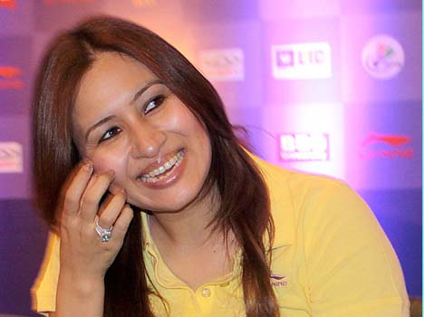 jwala gutta saina nehwal and ashwini ponappa in a press conference