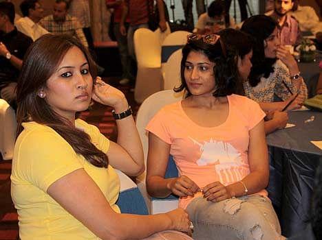 jwala gutta saina nehwal and ashwini ponappa in a press conference