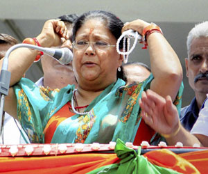 who give challange vasundhara raje in rajasthan politics?