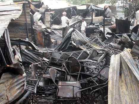 fire in furniture market