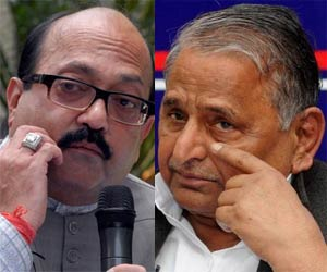 amar singh meet mulayam and akhilesh in lucknow