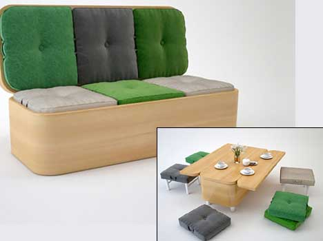 smart furniture for less spacious homes