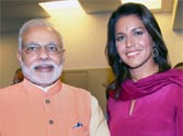 pm narendra modi with us congresswoman tulsi gabbard
