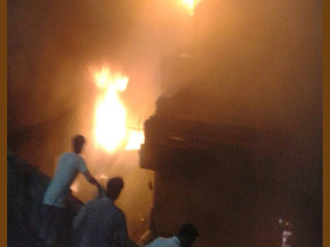 Fire in 1000 Years Old Laxmi Narayan Temple