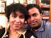 taslima nasreen's pic with boyfriend at twitter