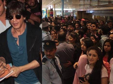 Students Waiting for 'Don' Shahrukh Khan, Live Pics
