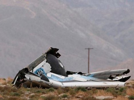 virgin galactic space plane crashed on test in california