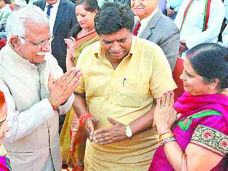 Chief Minister Manohar Lal Khattar in An Event, Live Pics