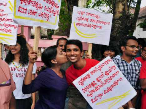 kiss of love orgnized at kochi