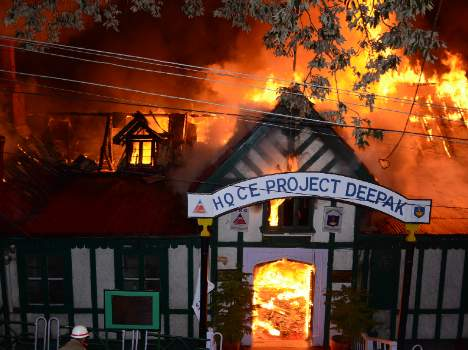 fire inccident at shimla minto court