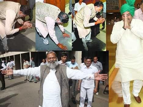 oath ceramony of haryana assembly, live pics