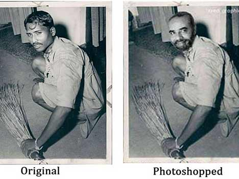 photoshopped pictures used in election campaign by bjp