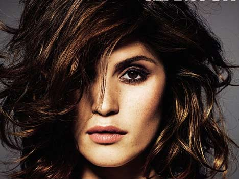 Gemma Arterton oozes sex appeal as she poses in strapless leather dress for sultry magazine shoot