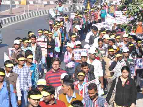 Aids awareness rally in Lucknow.