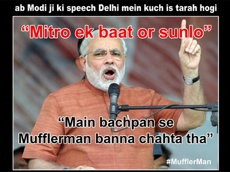 funny pics of modi on social media