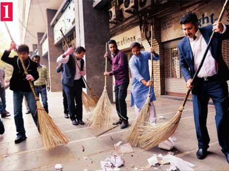 KRK puts broom in clean india mission.