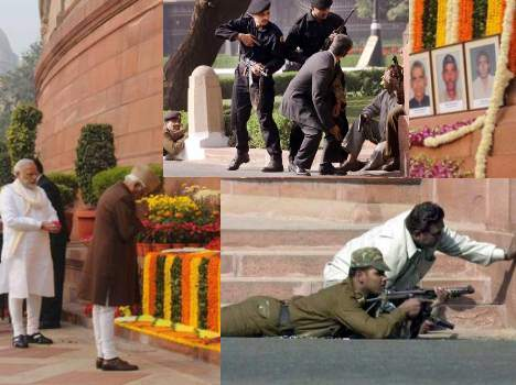 VP and PM Narendra Modi Pay Tributes to Martyrs of 2001 Parliament Attack.