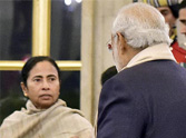 Modi-Mamta first met in President's party.