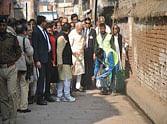 pm narendra modi varansi visit pictures